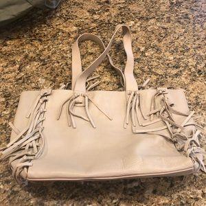 Ugg leather handbag with tassels